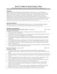 Mba Resume Sample Resume Templates