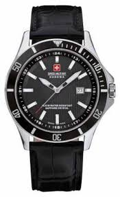 swiss military hanowa watches official uk retailer first class swiss military hanowa mens flagship black dial black leather watch 6 4161 2 04 007