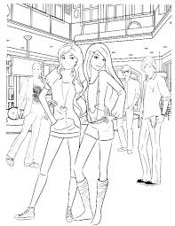 Free Fashion Coloring Pages Printable Barbie Fashionistas