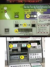 Bus Vending Machine Kyoto Interesting How To Use The Ticket Machines Kyoto Transport Information