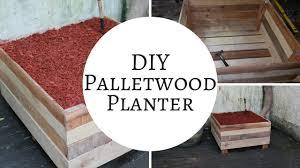 how to make a rustic pallet garden planter box pallet ideas