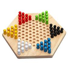 Wooden Games For Adults Education Math Toys Traditional Hexagon Wooden Chinese Checkers 92