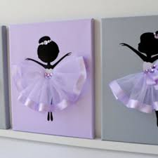dancing ballerinas wall decor nursery wall art in lavender purple and grey  on cute nursery wall art with dancing ballerinas wall decor nursery from florasshop on etsy