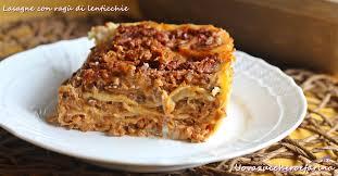 Risultati immagini per immagine lasagnette al piatto con lenticchie