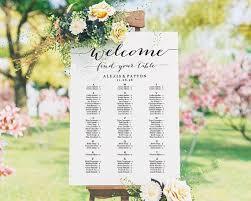 Alphabetical Wedding Seating Chart Template Seating Plan Seating