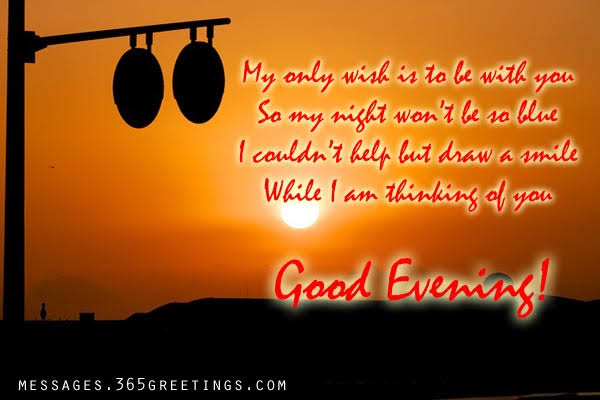 good evening message with picture