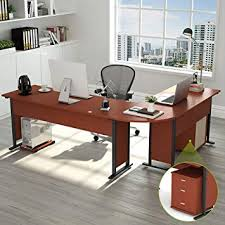 l shaped desk modern. Contemporary Shaped 87u201d Tribesigns Largest Modern LShaped Desk With Cabinet Corner Computer  Study With L Shaped S