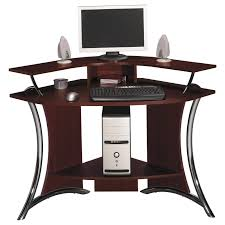 small white corner desk black painted pine wood corner desk storage drawers which has wheels shelves for cpu stand dark varnished oak home office computer