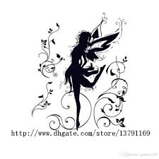 dancing fairy ballerina silhouette l and stick removable wall decals wall sticker for bedroom living room wall decals for nursery wall decals for