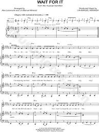 musical sheet wait for it sheet music from hamilton an american musical sheet