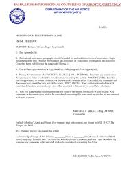Air Force Letter Of Recommendation New Air Force Letter Of Counseling Rebuttal Template Daremycompany