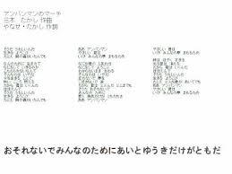 アンパンマンマーチ カラオケ動画 パレード風アレンジ