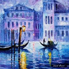 art gallery painting mystery of venice palette knife oil painting on canvas by leonid