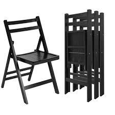 set of folding chairs. Costway Set Of 4 Solid Wood Folding Chairs Slatted Seat Wedding Patio Garden Furniture 0
