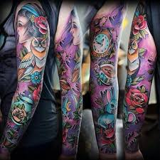 colorful tattoo sleeve designs. Simple Designs Full Sleeve Tattoo  95 Awesome Examples Of Full Sleeve Tattoo Ideas U003c3   Throughout Colorful Designs Cuded