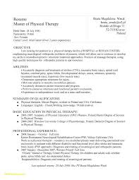 Sample Physical Therapy Resume Sample Physical therapy Resume Free Download therapist Resume 3