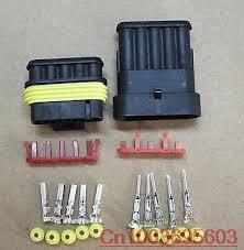 online get cheap waterproof wiring connectors aliexpress com 1 sets wire connector plug 5 pins waterproof electrical car motorcycle hid atv