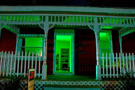 halloween lighting ideas. But Our Favorite Tip Is An Easy One: Go Overboard Inside Your Home With Lights In A Single Color, Green This Case, To Give Whole Place Halloween Lighting Ideas