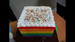 Resep Cara Membuat Rainbow Cake Kukus Yang Lembut Youtube