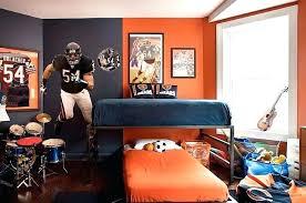 chicago bears bedding bears bedroom navy blue orange bears themed boys bedroom design with blue orange