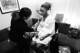 makeup artist with bride