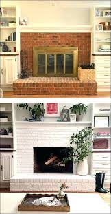 painted brick fireplace before and after pictures refinish brick fireplace fireplace before and after painted brick