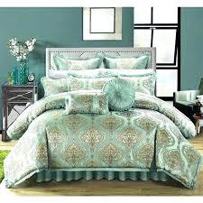 aqua bedding gold bed comforters queen pale aqua gold fl design jacquard motif comforter bedding set unbranded contemporary rose gold bed set