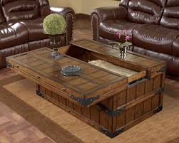 multifunctional rustic wood coffee table image and description