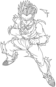 new dbz coloring pages goten free printable dragon ball z for kids