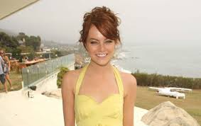 wide emma stone yellow dress wallpapers
