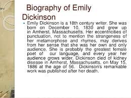 figurative language analysis on emily dickinson s my life had stood 4 biography of emily dickinson