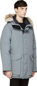 Lyst - Canada Goose Grey Coyote Fur Hood Ontario Parka in Gray for Men