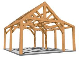 enclose this entire king post plan for a small cabin or leave the shed roof area open for a rocking chair porch the king post area is a generous 15 feet
