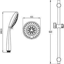 <b>Душевой гарнитур Shower</b> Circle 5B Set купить по цене 5250 руб ...