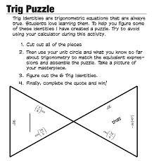 trig tarsia puzzle and other fun math activities to challenge the gifted math learner