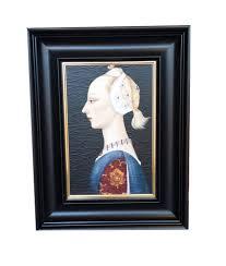 arctic ship oil painting framed piero della francesca portrait framed