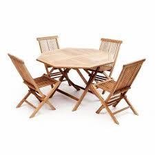 teak garden furniture set 4 chairs