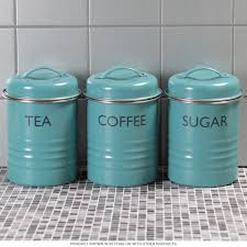 beautiful tea coffee sugar kitchen canister set aqua with white kitchen canisters sets