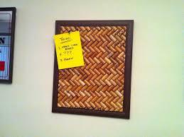 I discovered I had several bags of wine corks and making a cork board  seemed like