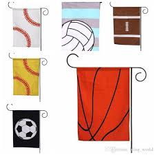 2019 baseball garden flag canvas monogrammed flag sports hanging yard flags garden decorations basketball volleyball football 6 designs yw744 from