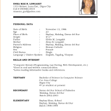Basic Chronological Resume Template Open Resume Templates. Simple ...