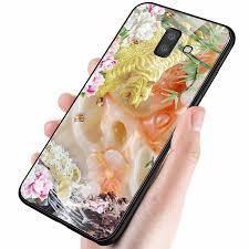 Ốp kính cường lực cho điện thoại Samsung Galaxy A6 2018 - hổ MS TIGER 024 -  Hàng Chính Hãng
