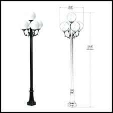 white outdoor post light globe street light 5 lamps throughout lamp post globes decor hampton bay