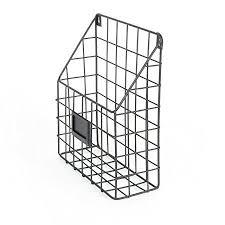 wall file holder metal mesh wire shelf