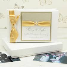 Personalised Golden Wedding Anniversary Photo Album By Dreams To