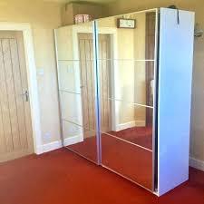 ikea pax sliding doors wardrobe with mirrored cm stuck door problem