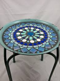 <b>Mosaic Side table</b> or <b>plant</b> stand   <b>Mosaic</b> outdoor table, Outdoor ...