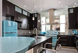retro kitchen appliances shining teal fridge with retro appliances using black cabinet and superb modern recessed