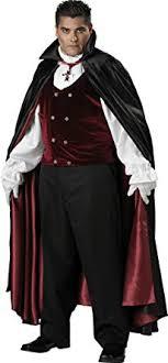 InCharacter Costumes, LLC Menu0027s Gothic Vampire Costume, Black/Burgundy,  XXX Large