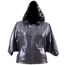 fashion plus size leather jackets latest lyst jessica simpson plus size hooded faux leather jacket